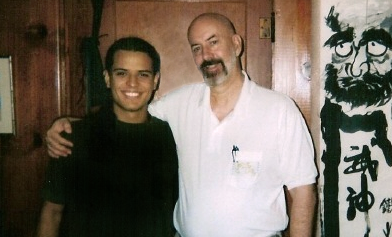 Photo of glenn morris with Santiago Dobles